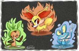 pokemon_x_and_y_starters_by_happydoodle-d5r2mav